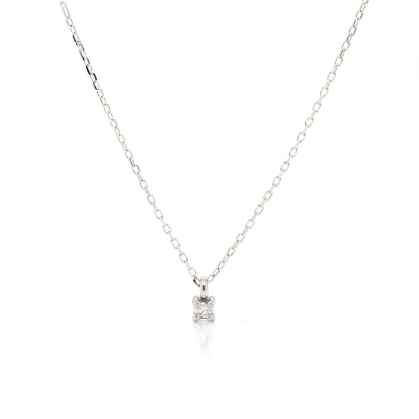 Faye necklace | white diamond