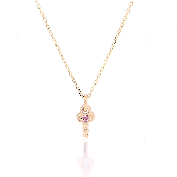 Mini Key Necklace II - birthstone