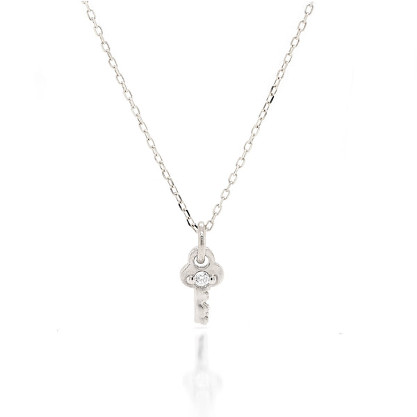 Mini Key Necklace - diamond