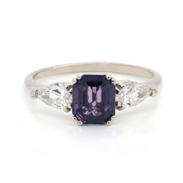 Purple spinel & diamonds | One Of A Kind