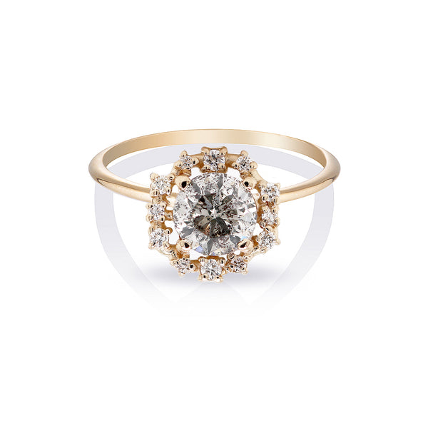 Annalise II | Salt & Pepper Diamond