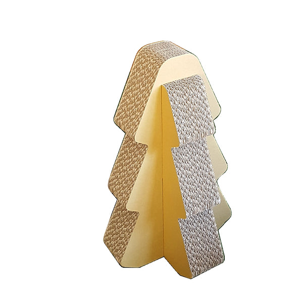 Cardboard Standing Scratcher Tree in white background