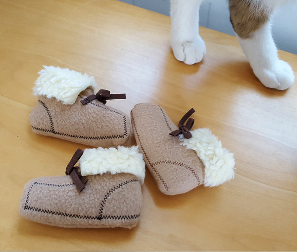 Cat playing Moccasin Cat Toys
