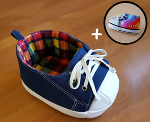 Rainbow Sneaker Cat Bed Gift Combo
