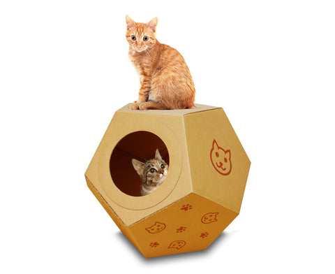 Rocking Ball Cardboard Playhouse