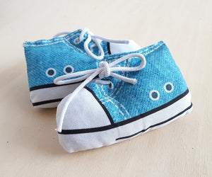 Sneaker Cat Toy in Light Blue