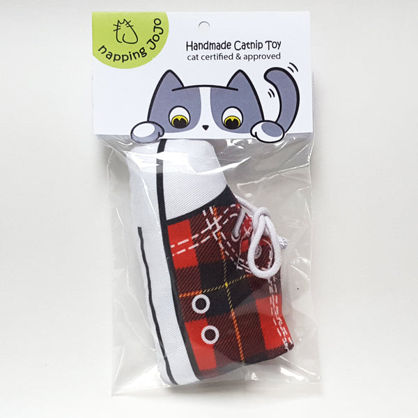 Sneaker Cat Toy in package
