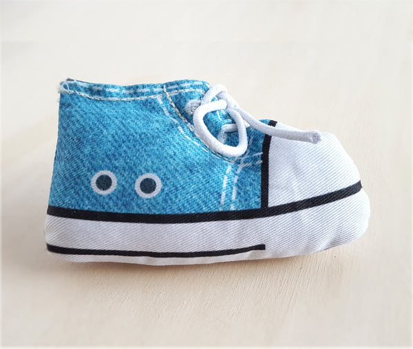 Sneaker Catnip Toy in light blue