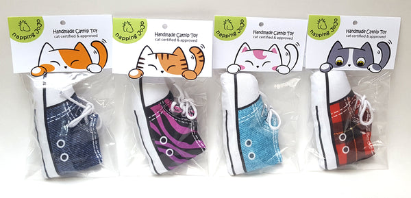 Sneaker Cat Toys in packages