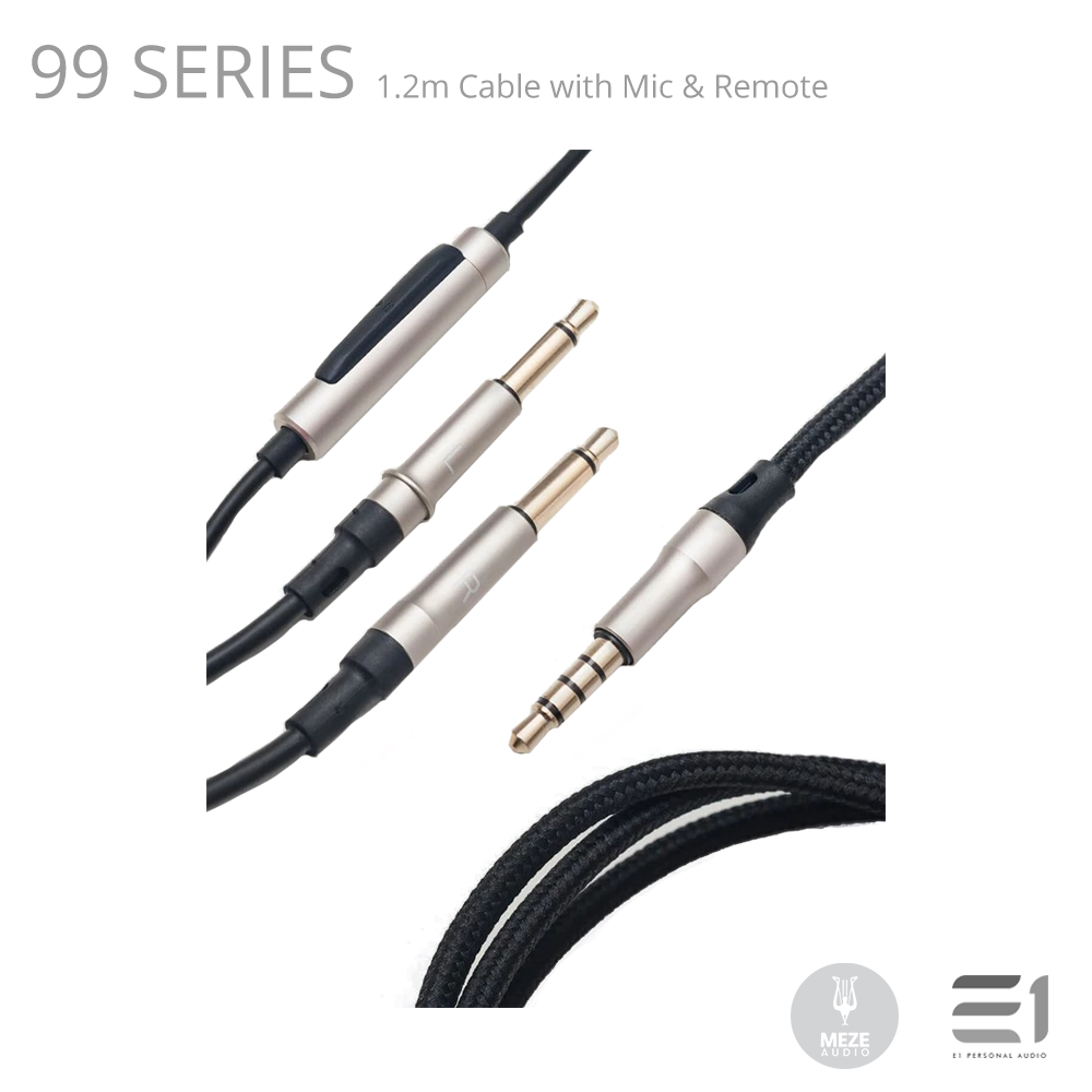 Meze, Meze 99 Series 1.2m Cable with Mic & Remote - Buy at E1 Personal Audio Singapore
