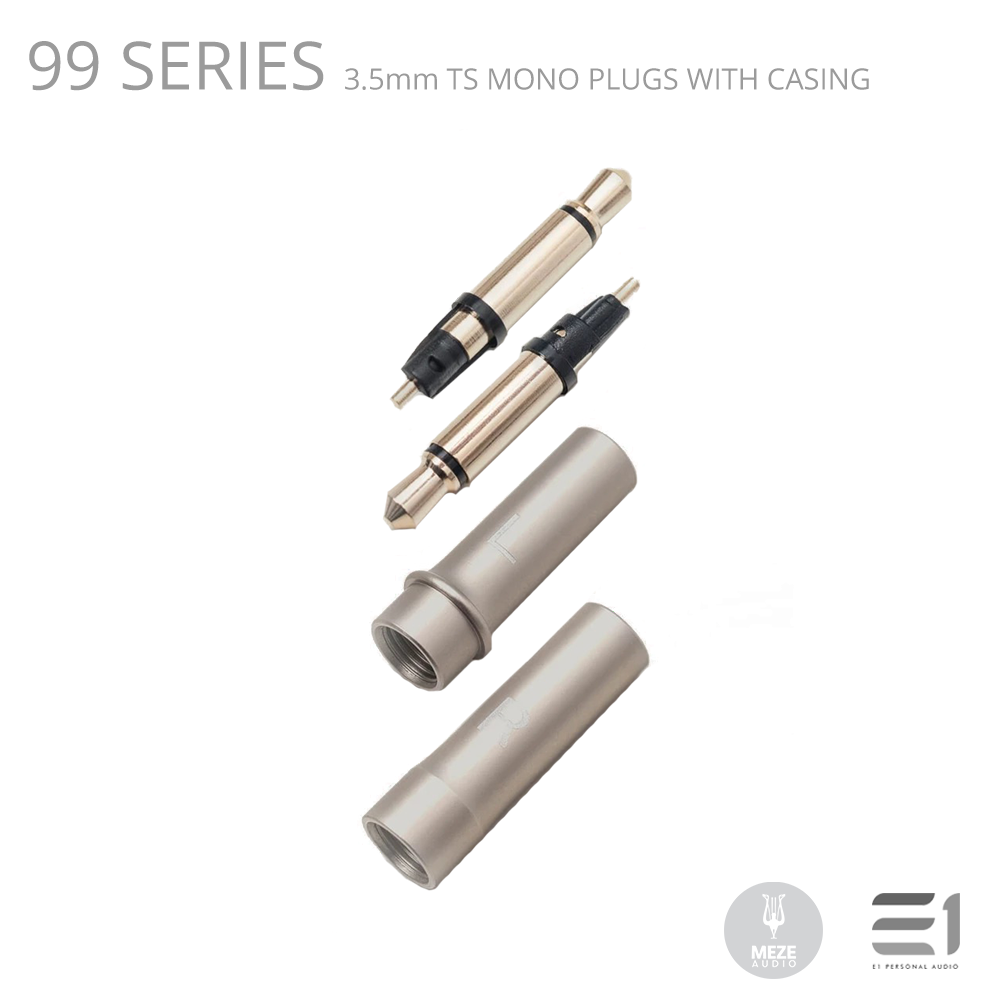 Meze, 99 Series 3.5mm TS mono plugs with casing - Buy at E1 Personal Audio Singapore