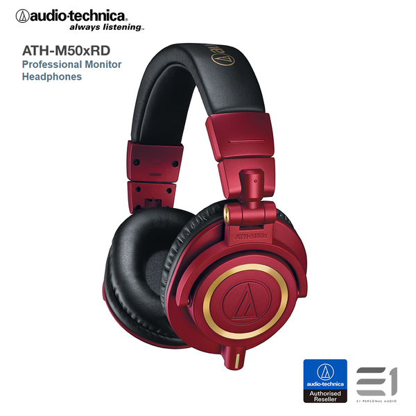 Audio-Technica, Audio-Technica ATH-M50xRD Over-Ear Headphones - E1 Personal Audio Singapore