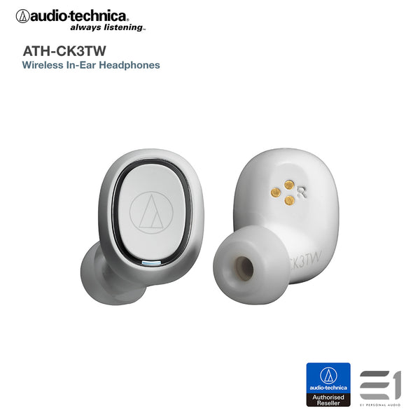 Audio-Technica, Audio-Technica ATH-CK3TW Wireless In-Ear Headphones - Buy at E1 Personal Audio Singapore