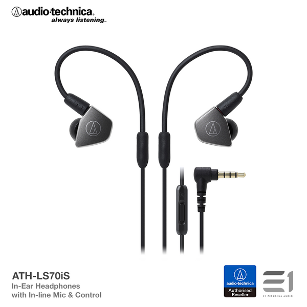 Audio-Technica, Audio Technica ATH-LS70iS In-earphones - Buy at E1 Personal Audio Singapore