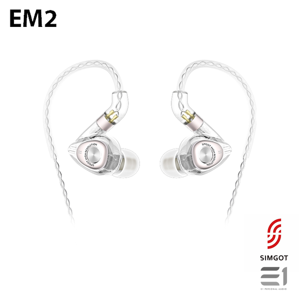 Simgot, SIMGOT EM2 In-earphones - E1 Personal Audio Singapore