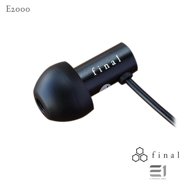 Final Audio, FINAL AUDIO E2000 BLACK - Buy at E1 Personal Audio Singapore