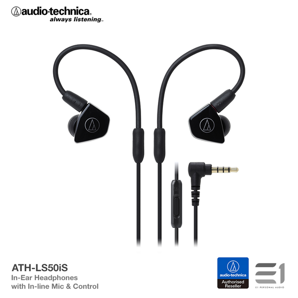 Audio-Technica, Audio Technica ATH-LS50iS In-earphones - Buy at E1 Personal Audio Singapore
