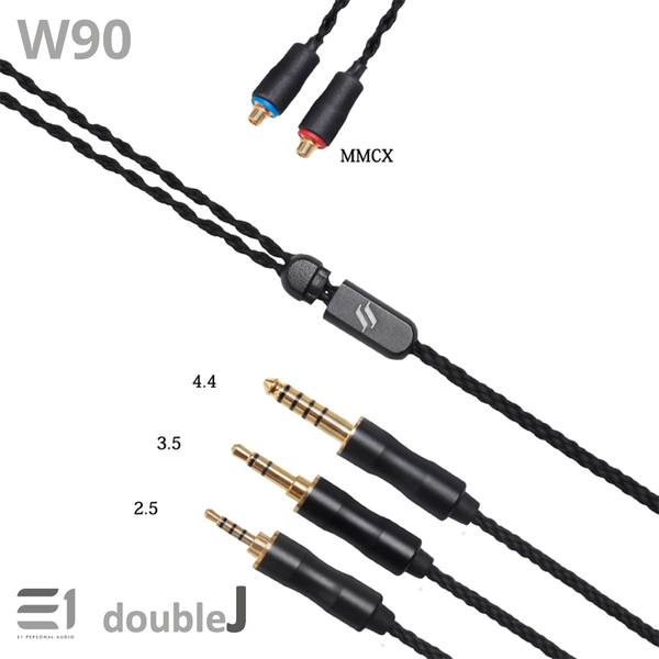 J&J, J&J W90 Cables [MMCX 2.5mm / 3.5mm / 4.4mm] [2PIN 0.78 2.5mm / 4.4mm] - Buy at E1 Personal Audio Singapore