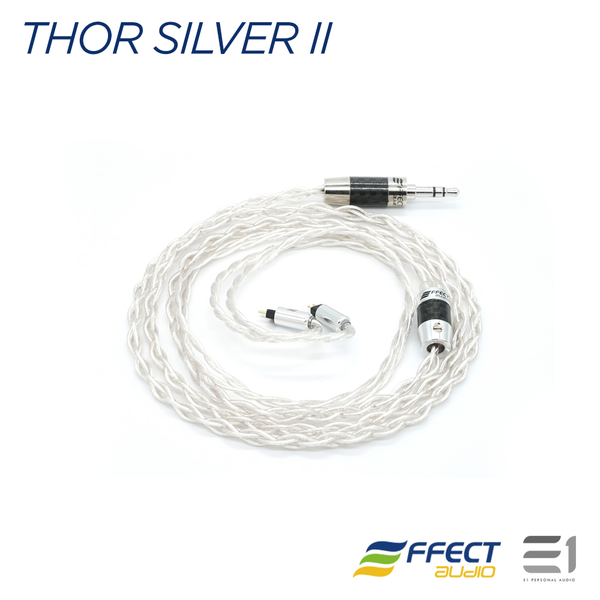 Effect Audio, Effect Audio Thor Silver II Cable (MMCX / 2pin)[EA 3.5mm / EA 2.5mm] - Buy at E1 Personal Audio Singapore