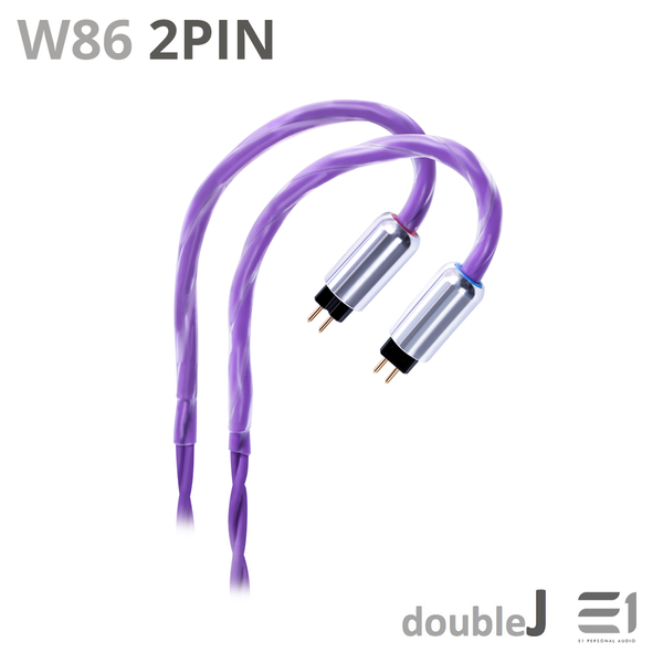 J&J, J&J W86 Cables [MMCX 2.5mm] [2PIN 0.78 2.5mm] - Buy at E1 Personal Audio Singapore