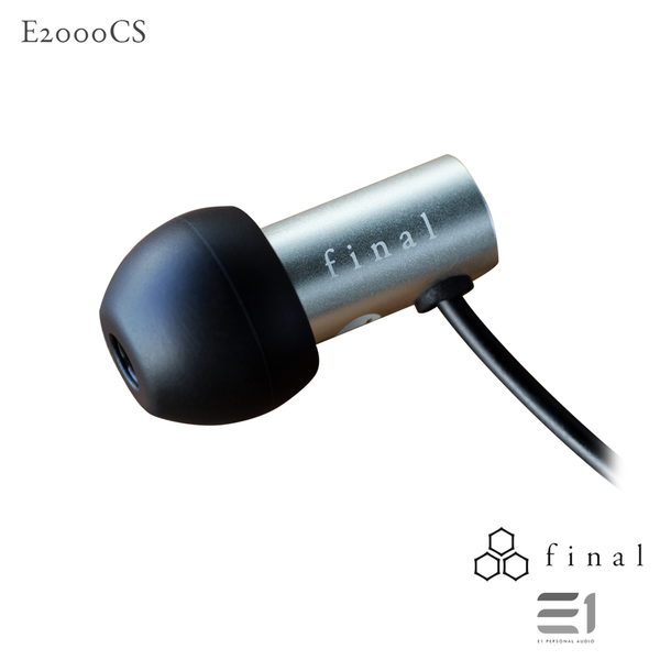 Final Audio, FINAL AUDIO E2000CS WITH MIC MATTE SILVER- E1 Personal Audio Singapore