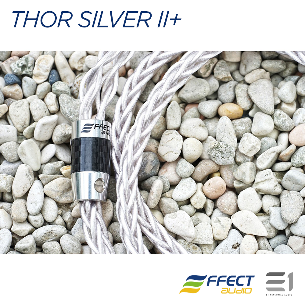 Effect Audio, EFFECT AUDIO Thor Silver II+ HEADPHONE CABLE (4 / 8 WIRE BRAID) - Buy at E1 Personal Audio Singapore