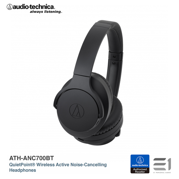 Audio-Technica, ATH-ANC700BT QuietPoint® Wireless Active Noise-Cancelling Headphones - E1 Personal Audio Singapore