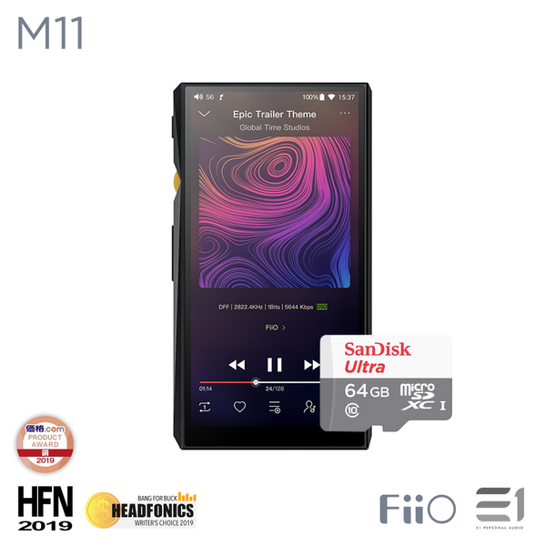 FiiO, FiiO M11 Portable Hi Resolution Lossless Music Player (free San disk 64GB) - Buy at E1 Personal Audio Singapore
