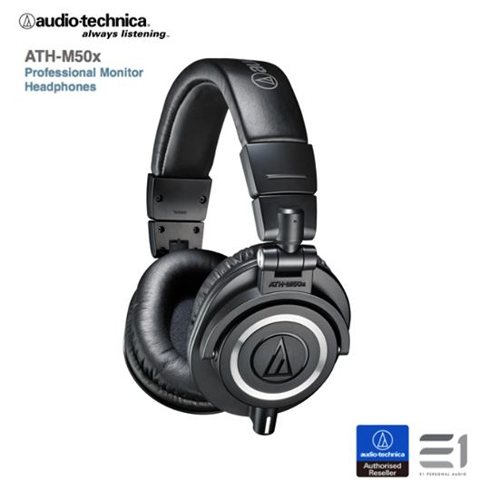Audio-Technica, Audio-Technica ATH-M50x Over-Ear Headphones- E1 Personal Audio Singapore