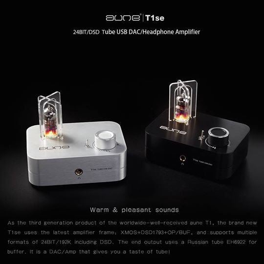 Aune, Aune T1se 24bit / DSD Tube USB DAC Headphones Amplifier - E1 Personal Audio Singapore
