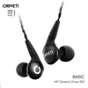 Oriveti, Oriveti Basic In-earphones- E1 Personal Audio Singapore