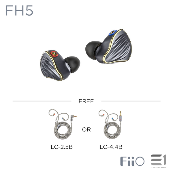 FiiO, FiiO FH5 IN-EARPHONES - Buy at E1 Personal Audio Singapore