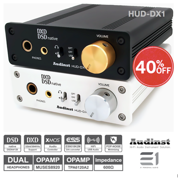 Audinst, Audinst HUD-DX1 DAC Headphones Amplifier - E1 Personal Audio Singapore