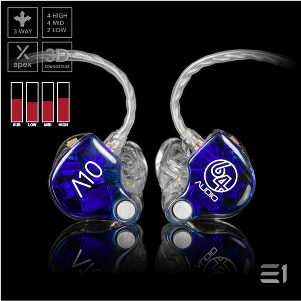 64Audio, 64 Audio A10 APEX Custom Monitors- E1 Personal Audio Singapore