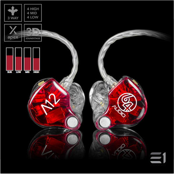 64Audio, 64 Audio A12 APEX Custom Monitors- E1 Personal Audio Singapore