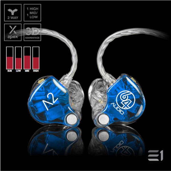 64Audio, 64 Audio A2 APEX Custom Monitors- E1 Personal Audio Singapore
