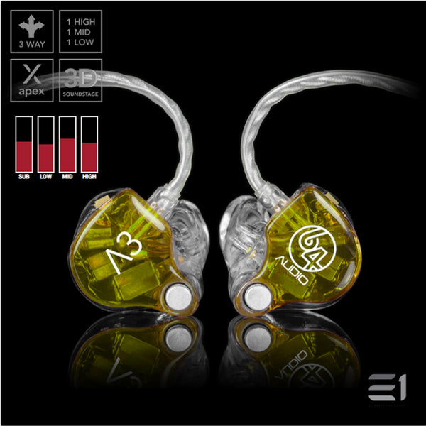 64Audio, 64 Audio A3 APEX Custom Monitors- E1 Personal Audio Singapore