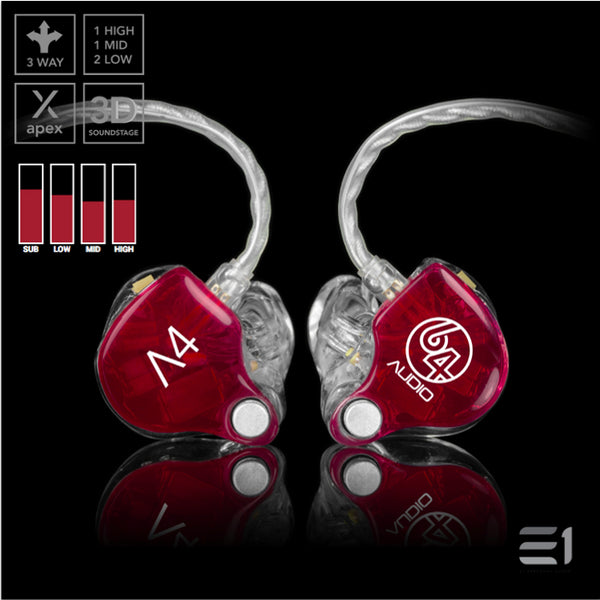 64Audio, 64 Audio A4 APEX Custom Monitors- E1 Personal Audio Singapore