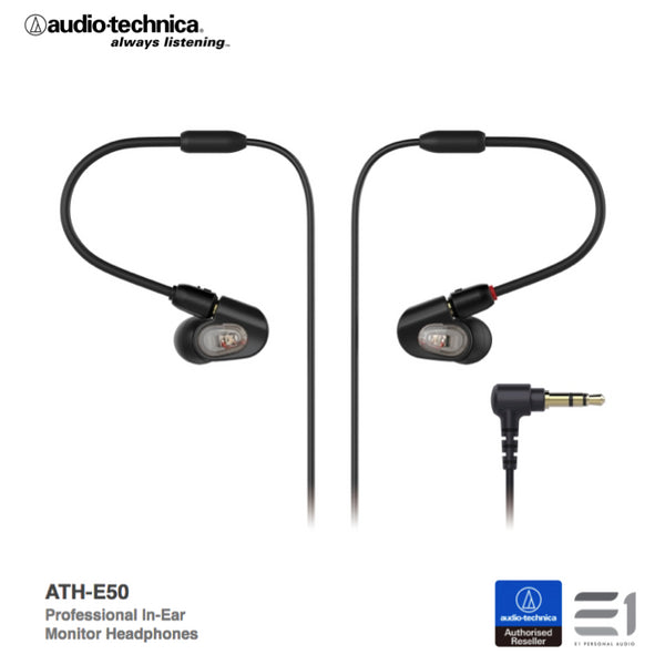 Audio-Technica, Audio Technica ATH-E50 In-earphones - Buy at E1 Personal Audio Singapore