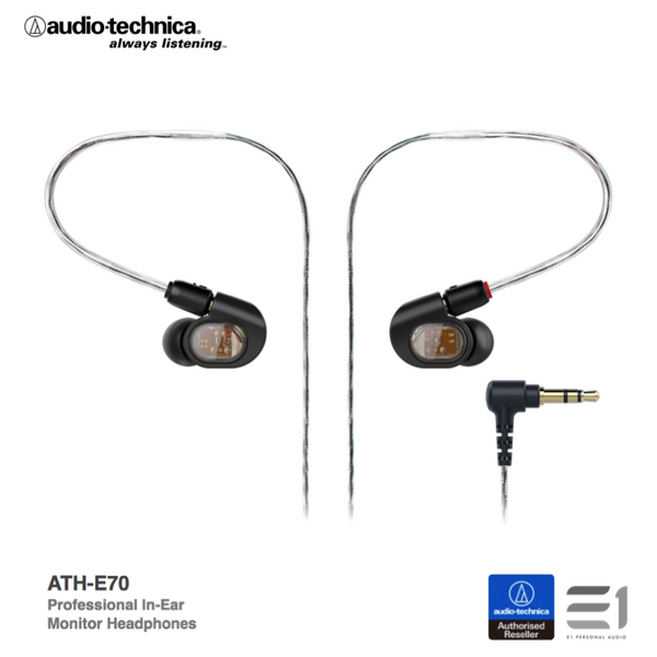 Audio-Technica, Audio Technica ATH-E70 In-earphones - Buy at E1 Personal Audio Singapore