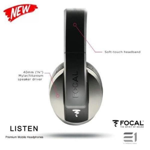 Focal, Focal Listen Over-ears Headphones (Silver) - E1 Personal Audio Singapore