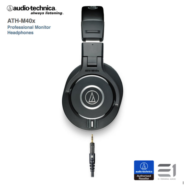 Audio-Technica, Audio-Technica ATH-M40x Over-ears Headphones- E1 Personal Audio Singapore