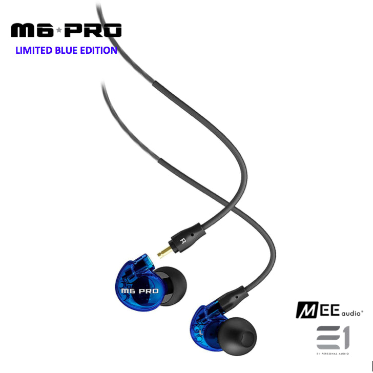 MEE Audio, MEE Audio M6 Pro-Blue In-earphones (Limited Edition) - Buy at E1 Personal Audio Singapore