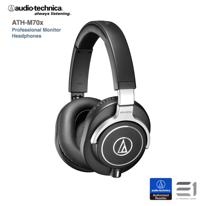 Audio-Technica, Audio-Technica ATH-M70x Over-ears Headphones - E1 Personal Audio Singapore