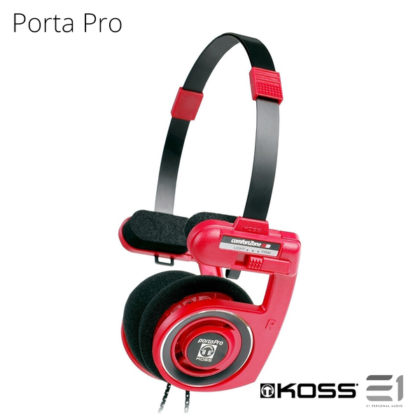 Koss, Koss Porta Pro Limited Edition Red On-ear Headphones - Buy at E1 Personal Audio Singapore