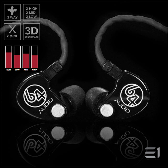 64Audio, 64 Audio U6 APEX In-Earphones- E1 Personal Audio Singapore