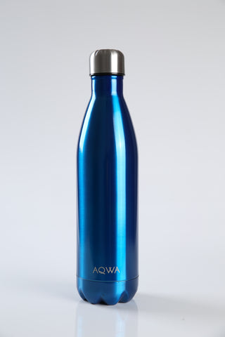AQWA metallic blue insulated bottle 750 ml