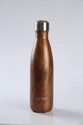 AQWA copper wood grain insulated bottle 500 ml