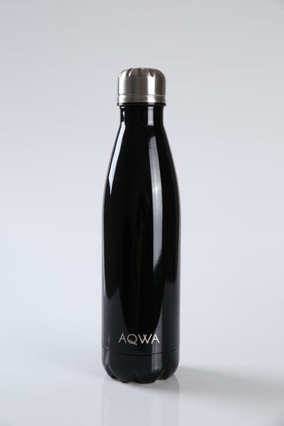 AQWA black gloss insulated bottle 500 ml