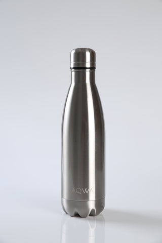 AQWA silver insulated bottle 500 ml